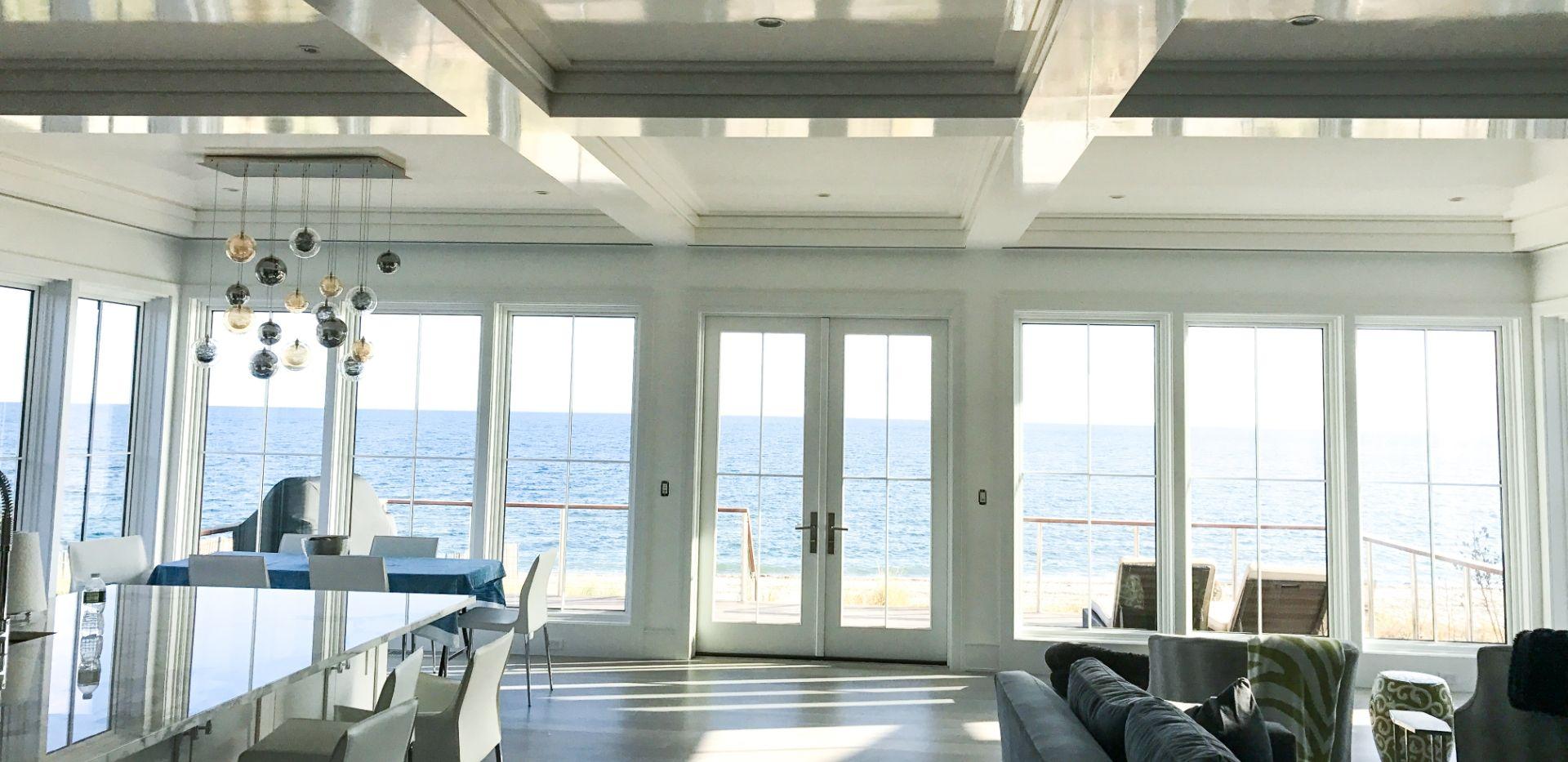 white high gloss ceiling paint in palm beach