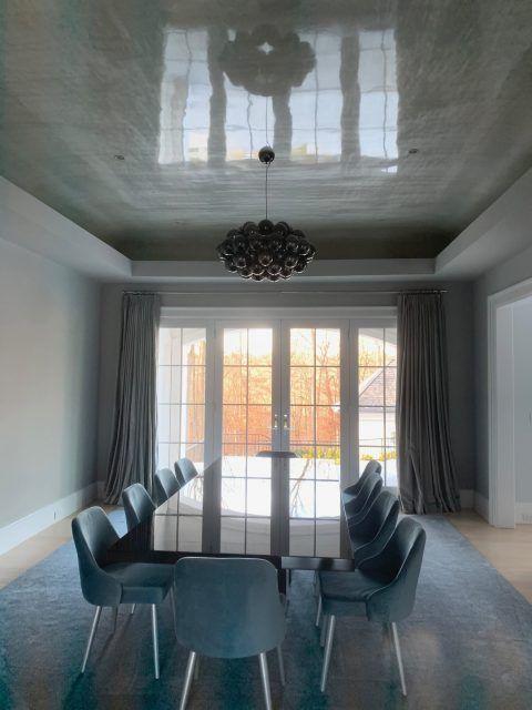 gray high gloss ceiling