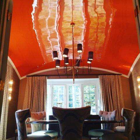 orange ceiling high gloss
